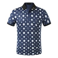 Printemps luxe ITALIE T-shirt T-shirt Designer Polo High Street Broderie Jarretière Snakes Little Bee Impression Vêtements Mens Hommes Polo Chemise