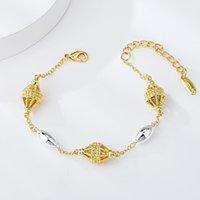 Viennois Dubai stil Chian armband för kvinnor geometriska ihåliga ut boll afrikanska smycken tillbehör romantisk presentlänk, kedja