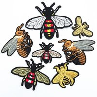 20 pcs muitos design bordado bee patch costurar ferro em tecido crachá applique diy artesanato consome