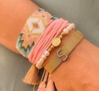 Charm Bracelets Handmade Jewelry Stars Seed Beaded Bracelet Miyuki Beads Gifts Women Ethnic Tassel