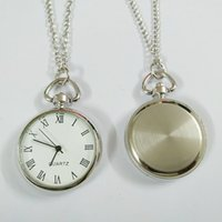 Senior children's student watch Silver Roman face Key Ring Pendant Watch Necklace pocket large round buckle