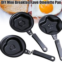 Pans Mini Egg Breakfast Fryer Multi-styles Non-stick Pan Pancakes Crepe Molds For Home Kitchen FP8