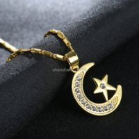 gold chain Crystal Star Moon Pendant Necklace Silver Necklaces for women children Fashion jewelry will and sandy