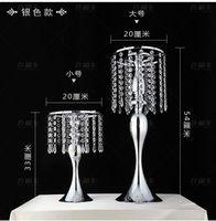 Vazolar 2022 Kristal Düğün Centerpiece Gümüş Metal Çiçek Standı Masa 10 adet / grup