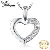 JewelryPalace Сердце стерлингового серебра Подвеска Ожерелье 925 Стерлинговые Серебряные Серебряные Цепочки Choker Ожерелье Ожерелье Женщины 45см