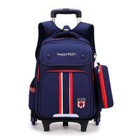 Детские школьные сумки с 3/2 колеса съемные детские тележки школьные сумки мальчиков девочек катится рюкзак дети колесных книг