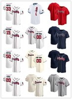 "Personalizado Jersey Mens Mulheres Juventude ""Atlanta"" Braves ""20 Marcell Ozuna 33 A.J. Minter 15 Sean Newcomb 50 Charlie Morton Baseball Jerseys"