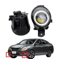 LED DRL Acessórios Do Carro Faróis Styling Lente Anjo Olho Alta Qualidade Nevoeiro Luz para Nissan Versa 2012-2015
