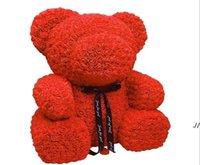 Nuovo regalo di San Valentino Regalo PE Rose Bear Toys Pieno pieno di amore 25cm Teddy Bears Bambola carino fidanzata bambini presente DWC6983