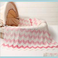 102 * 76 cm Baby Baby Basket Cesto Coperta per l'estate Aria condizionata Toddler Biancheria da letto Trapunta Nato Super Soft Swingdles Wrap Kids HV3CG