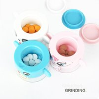 Cartoon Storage Case Cutter Grinder Crusher Pulverizer Compartment Box For Babies Eating Easy Use Bottles & Jars