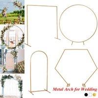 Сторона украшения железа круг свадебные арки реквизит фона одиночный цветок открытый газон дверной стойки дни рождения