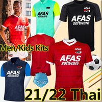 21/22 Alkmaar Jerseys de futebol AZ 2021 2022 Karlsson Stengs Koopmeiners Boadu Gudmundson Clasie Sugawara Homens Kits Kits Futebol Shirts Uniformes