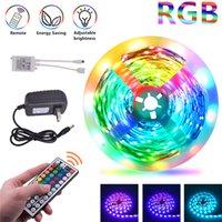 USA Stock RGB LED-Streifen 16.4ft 32.8ft 5050 Streifenscheinwerfer 30LEDS / M mit 440-Fernbedienung