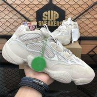 Top Quality Kanye Homens Mulheres Correndo Sapatos Deserto Rato Pedra Soft Vision Bone Branco Blush Ourtdoor Plataforma Sports Sneaker com caixa