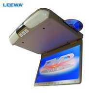 """Vidéo de voiture Leewa bus 15,6 """"15,6 pouces moniteur LCD de toit avec lecteur DVD intégré FM USB / SD Solt 3 couleurs Gary Beige # CA3321"""