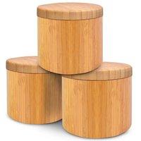 Newwooden Tempero de Tempero Bambu Spice Tools Shaker Açúcar Sal de Sal de Sal Ervas Garrafa de Armazenamento Especiarias Jar Cozinha 734 B3