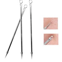 11.5cm Stainless Steel Blackhead Comedone Acne for Women Girls Beauty Tools Blemish Extractor Remover Face Skin Care Pore Cleaner Needles Remove Tool