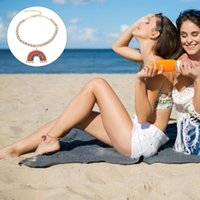 Pendant Necklaces 1Pc Beach Vacation Anklet Fashion Woman Rainbow Foot Jewelry