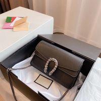 Роскошный дизайнер моды мини кожаные дамы на плечо сумка кошелек классические буквы алмазные сумочка