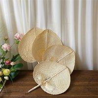 Paille tissée à la main Bamboo Fan Baby Protection de l'Environnement Protection de l'environnement Ventilateur anti-urgence pour la fête de la fête de mariage d'été 2051 V2