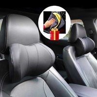 Seat Cushions 2pcs lot Car Memory Foam Head Neck Rest Dual Headrest Vehicular Massage Pillow With Wash Microfiber Towel Free Gift