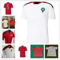 2021 Maroc Soccer Jerseys Home Away 20 21 Maillot de Foot Ziyech Boufal Fajr Munir Ait Bennasser Amrabat Football Shirts