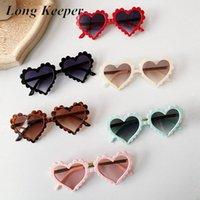 Longs Longs Cœur Forme Enfants Sunglasses Filles Garçons Tendance Cute Sun Lunettes Noir Rose Enfants Vintage Shades Shades Eyewear UV400