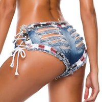 Ripped Jeans For Women Ultra Short Low Rise Hole Shorts Sexy Fashion Club Party Nightclub Rock Denim Women's