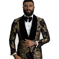 Handsome One Button Groomsmen Shawl Lapel Groom Tuxedos Men Suits Wedding Prom Dinner Man Blazer(Jacket+Tie+Pants) T330