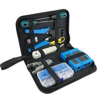 Set utensili per la mano professionale Set di computer Kit di riparazione del computer Cable Tester Tagliatrice Cacciavite Pinze Stamping Cavi Installazione Toolbox Toolbox