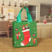 Presente de Natal Bolsa De Embalagem Não tecido Bolsa Santa Santa Sacos Grandes Doces Claus Sacos de Xmas Sacos para Decoração Festival GWD11079