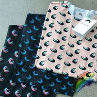 Moog manica marina serre t shirt maglietta da donna alta qualità sovrapposizione mezza luna stretta top tees marina serre girl t-shirt