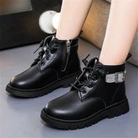 Boots Boys Girls Winter Warm Glitter Dimante Fashion Round Toe Kids Ankle Boot Autumn Soft Pu Leather Comfy 26-36 Children Shoes