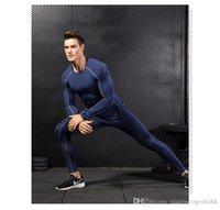 2020 Atacado Camisa de Desporto Dos Homens Fitness Leggings Fitness Leggings Running Leggings Tracksuit Bottoms
