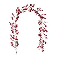 Red Berry Christmas Garland,Flexible Artificial Berrys Garlands for Fireplace Decoration for Winter Christmas Decoration