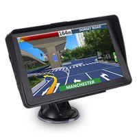 Araba GPS Navigator 7 inç Kamyon GPS Navigasyon Güneşlik Kalkanı Dokunmatik Ekran 8G Sat Nav Navitel Ücretsiz Haritalar FM