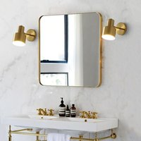 Wall Lamps Nordic Lamp Gold American Style Iron Art Bedroom Bedside Modern Living Room Led Mirror Light E27