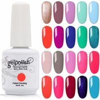 Kismart 12 pçs / lote gel unha polonês absorver 369 cores 15ml gel polonês para salão de verniz de arte nail