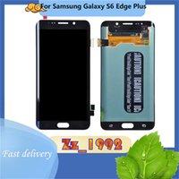 """5,7"""" Original для Samsung Galaxy S6 Гурт Plus G928 LCD сенсорный экран Замена Digitizer Дисплей с монтажными Синий белого золота"""