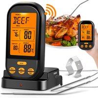 New Wireless Digital Meat Thermometers Remote Cooking Food Barbecue Grill Thermometer With Dual Probe For Oven Smoker Grill BBQ