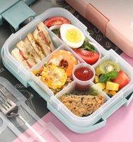 2 oder 1 Stück Lunchbox für Kinder Food Safe Fach Design Tragbare Container Schule Wasserdichte Aufbewahrungsboxen Mikrowackierbare RRE9507