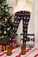 Noel Baskı Yüksek Bel Spor Bayan Tayt Hips Ev Kalem Pantolon Joggers Spor Bayanlar Sweatpants Pantolon