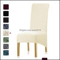 Стул Sashes Textile Gardenchair Erse Leate 10 Цветов Эластичный Полярной Флис Ткань Длинная Верхняя часть XL Размер High Seat Home Party1 Dover