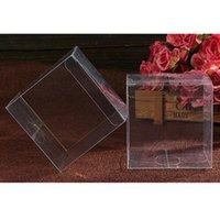 Box di confezionamento da 10 pezzi PP e PVC Box di imballaggio in PVC per la festa di nozze (4x4x4cm)