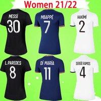 Maillot de foot PSG FEMME 20 21 22 NEYMAR JR 2020 2021 2022 Paris Domicile Extérieur bleu blanc VERRATTI CAVANI MBAPPE Maillot de foot femme DI MARIA Uniforme de filles