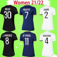 Maglia da calcio PSG DONNA 20 21 22 NEYMAR JR 2020 2021 2022 Paris Home Away blu bianco VERRATTI CAVANI MBAPPE maglia da calcio da donna DI MARIA uniforme da ragazza