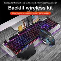 Teclado Durável Mouse Combos Delicado Design K680 2.4G Wireless Gaming Recarregável Mecânica Mecânica Backlit
