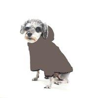 Vintage manteau d'animal de compagnie veste veste lettres lettre imprimé sweatshirts chien vêtements schnauzer bouledog caniche chiot costume