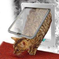 Hundetor ABS Material Kunststoff Öffnen Montage Abschlussbare Sicherheitsklappe Tier Kleine Haustier Katzen Hunde Gatter Cat Catrials, Kisten Häuser